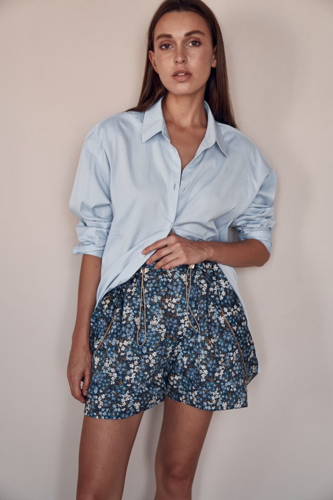 Blue shorts Tekapo